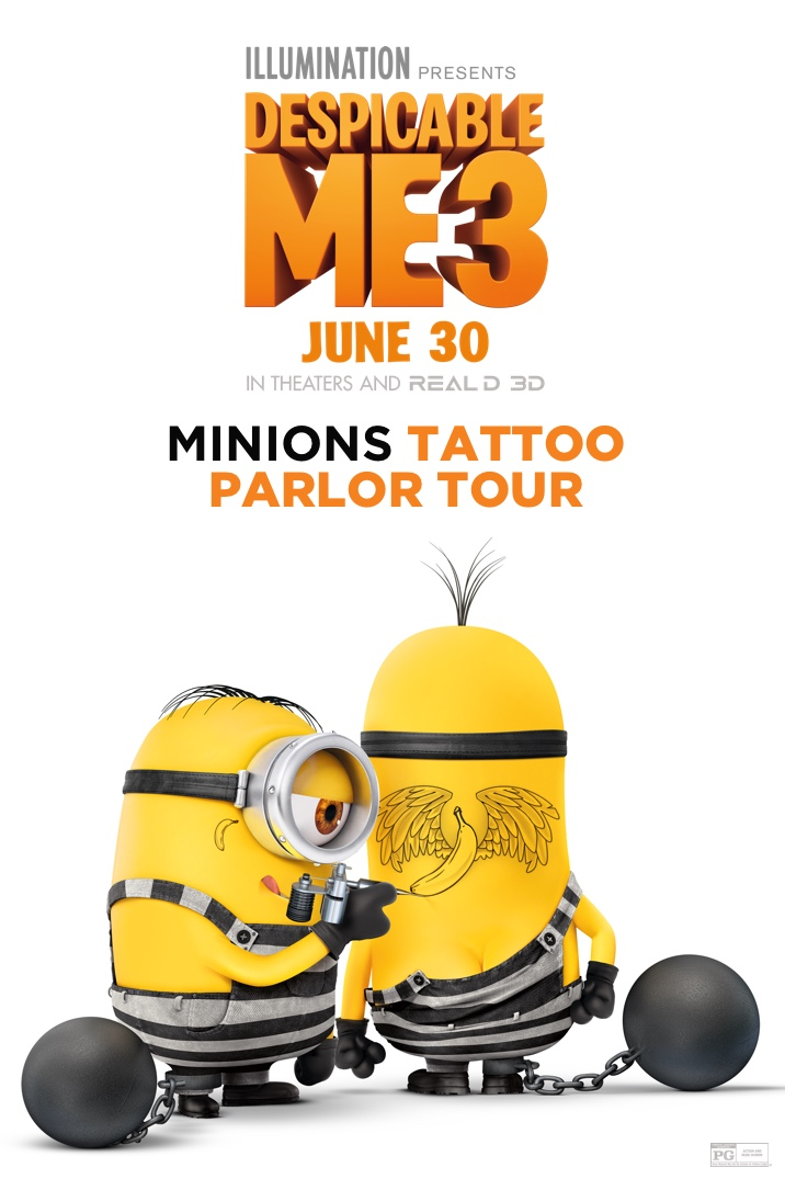 Despicable Me 3: Minions Tattoo Parlor Tour
