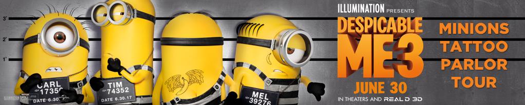 Despicable Me 3 Minions Tattoo Parlor Tour Universal Studios