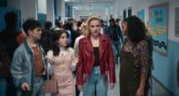 Misha Osherovich, Melissa Collazo, Kathryn Newton and Celeste O'Connor in Freaky (2020)
