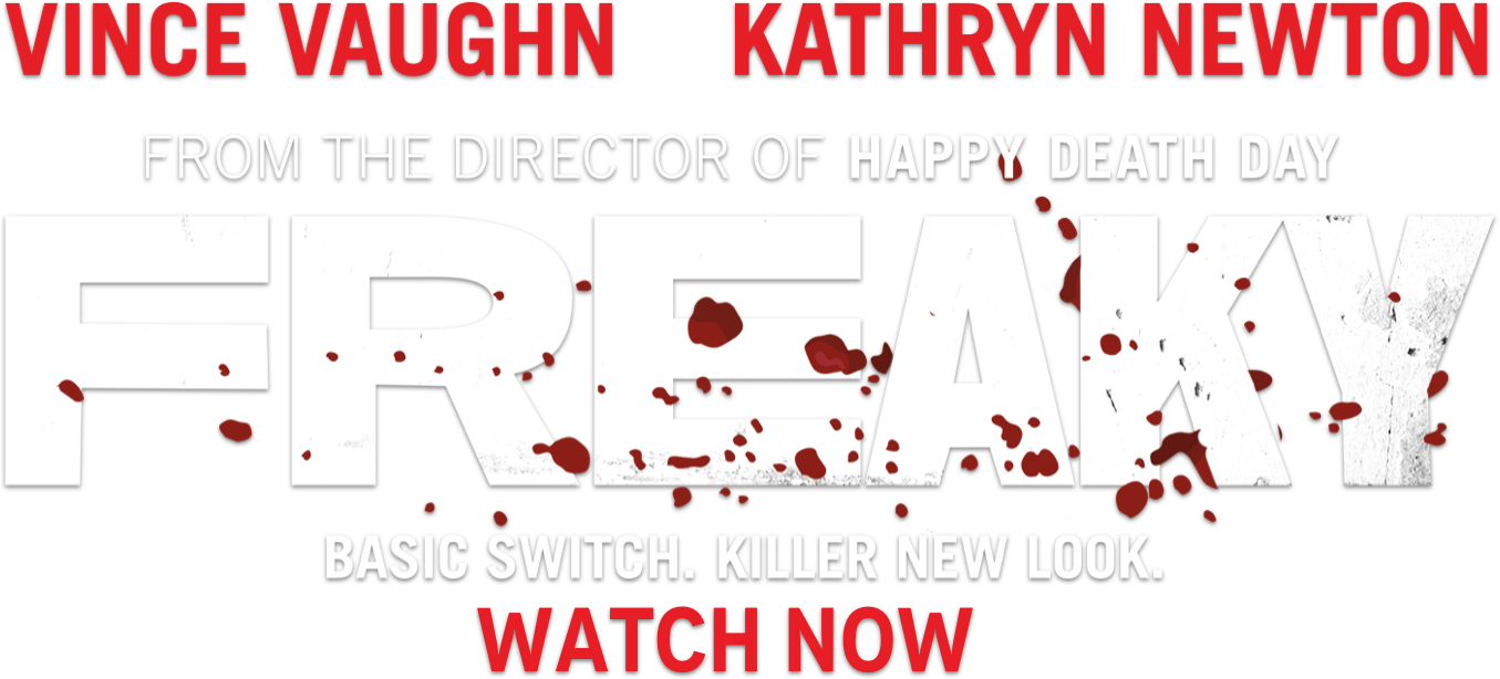 Freaky (2020 movie), starring Vince Vaughn and Kathryn Newton. In theaters Friday the 13th of November.