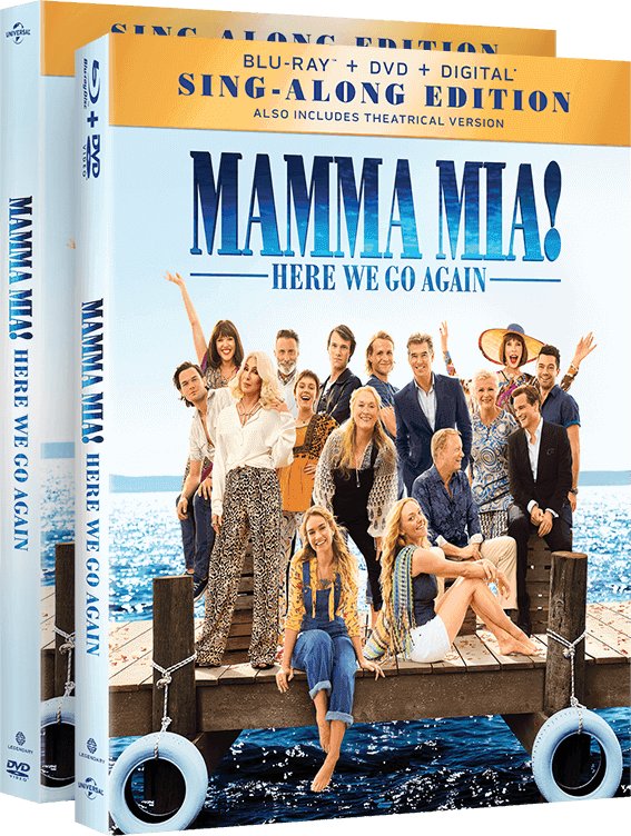 Own Mamma Mia! Here We Go Again on Blu-Ray.