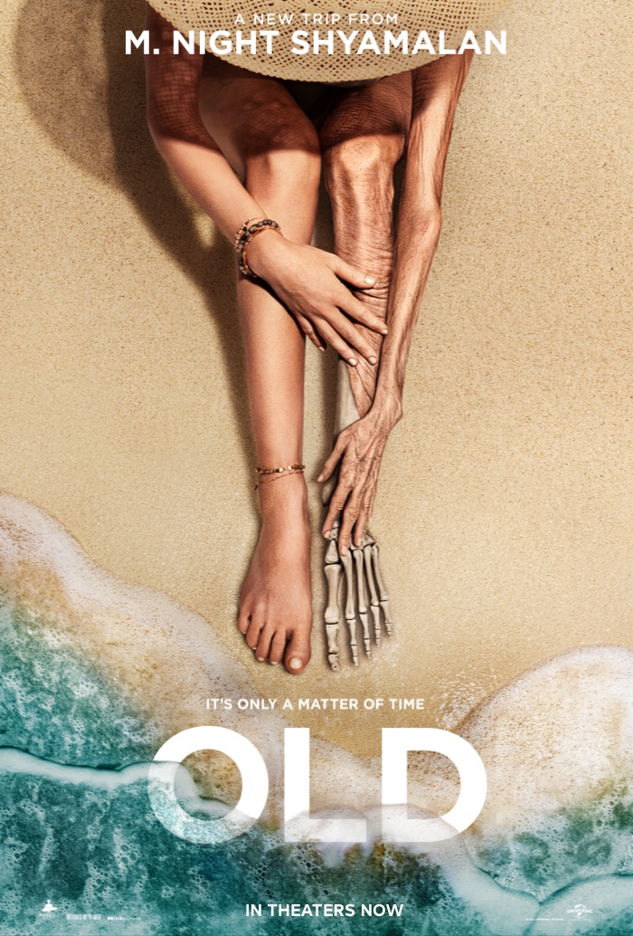 Poster for Old. Movie in theaters July 23, 2021.