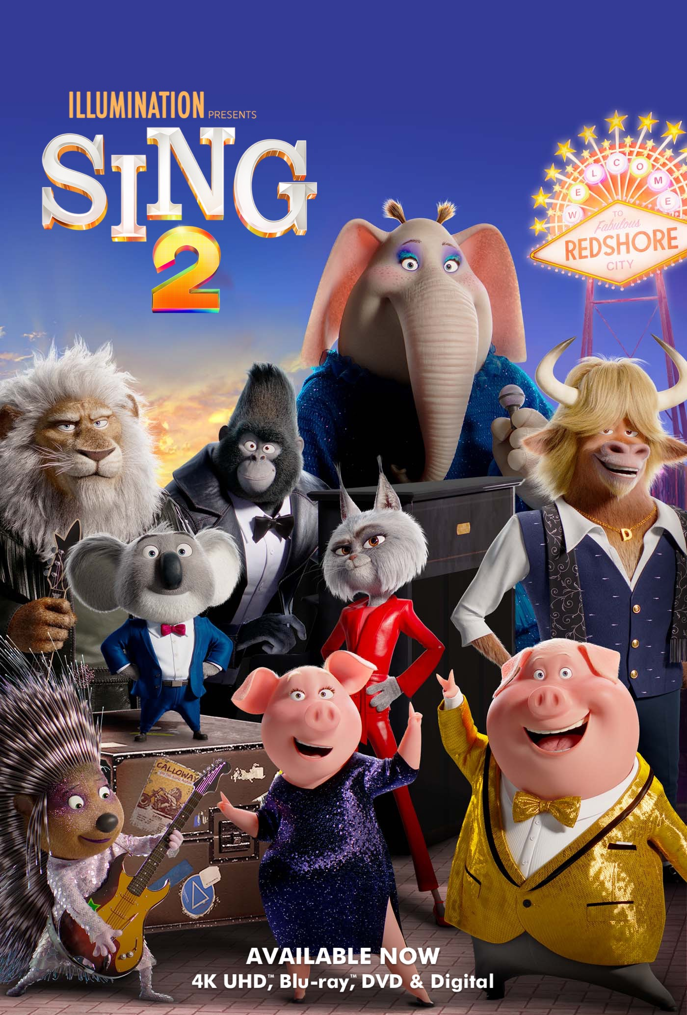 Sing 2 Poster. Watch the movie in theaters December 22, 2021.