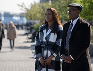 Issa Rae and Courtney B. Vance in The Photograph (2020 Movie)