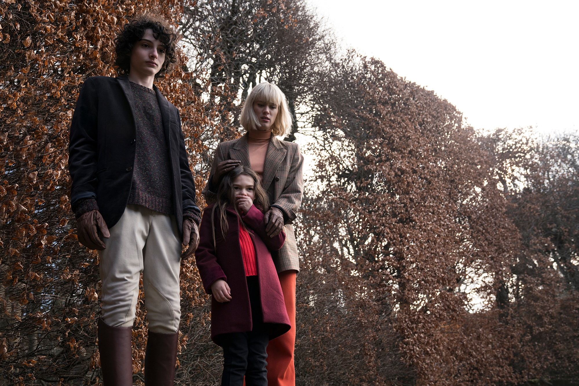 Mackenzie Davis, Finn Wolfhard, and Brooklynn Prince in The Turning (2020 Movie)
