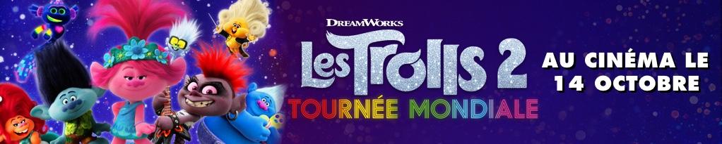 Bannière du film Les Trolls 2 Tournée Mondiale