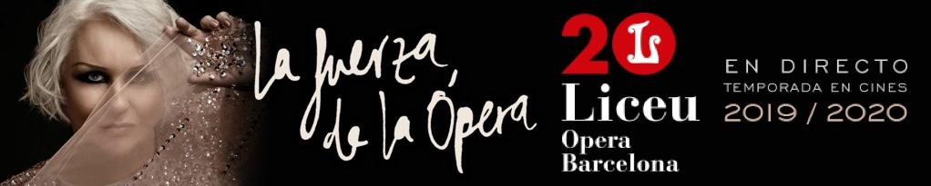 Banner de Temporada de directos en cine 2019/20 Gran Teatre del Liceu