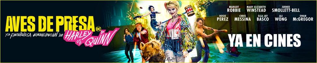 Banner de Aves de Presa y la fantástica emancipación de una Harley Quinn