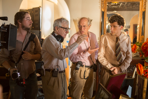 Woody Allen, Vittorio Storaro, Jesse Eisenberg - Photo By: Sabrina Lantos, © 2016 Gravier Productions, Inc.