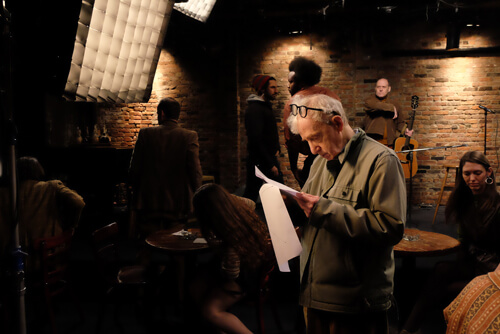 Woody Allen on Set - Photo By:  Jessica Miglio,  © 2016 Amazon Studios LLC
